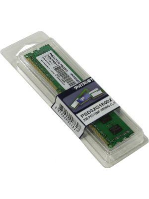 Օպերատիվ հիշող սարք, Ram Patriot 2GB, DDR3, 1600 MHz